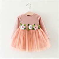 Spring newborn baby girl baby clothes outfit tutu princess dresses for toddler baby girl clothing brand christmas party dress