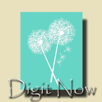 ON SALE DANDELION Print Poster Kids Room Decor Nursery  Home Decor Wall Art Customizable ND003A