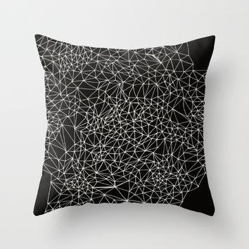 Geo Webbed Throw Pillow by DuckyB