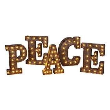 PEACE - LED Illuminated Marquee Word Sign - Christmas