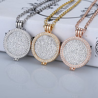 New 35mm coin holder necklace pendant fit my 33mm coins white crystal  Christmas woman gift decorative fashion jewelry locket