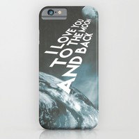 I love you to the moon and back iPhone & iPod Case by Cafelab