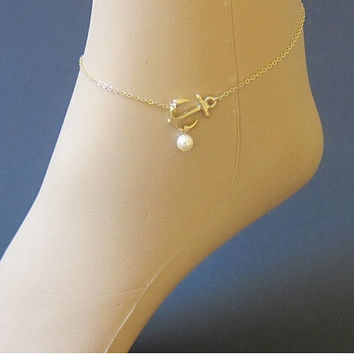 Shiny Sexy Gift Cute Jewelry New Arrival Pendant Pearls Ladies Stylish Anklet [6768807751]