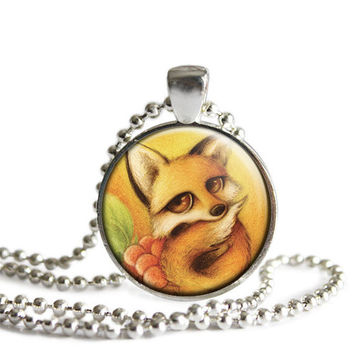 Fox Necklace , Fox pendant  Woodland Necklace, Nature Lovers gift Idea