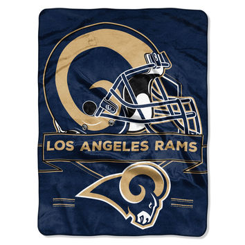 NFL Los Angeles Rams Prestige 60x80 NFL Blanket - Free Shipping in the Continental US!