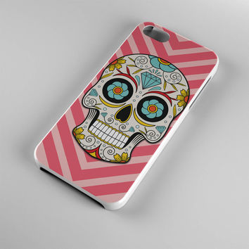 DS271-iPhone Case - Iphone 5 case-Iphone 5s case - Iphone 4 case - Iphone 4s case - Iphone Cover -Sugar Skull Pink iPhone Case