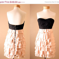 ON SALE Evan Corset Strapless Dusty Pink Princess by PYTboutique