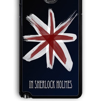 Samsung Galaxy Note 3 Case - Hard (PC) Cover with Believe in Sherlock Holmes Logo Quotes Plastic Case Design