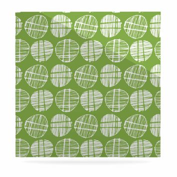 "Gill Eggleston ""Sketched Pods Green"" Green White Abstract Modern Digital Vector Luxe Square Panel"