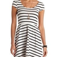 Short Sleeve Striped Skater Dress