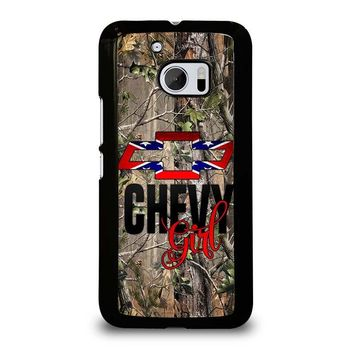 CAMO BROWNING REBEL CHEVY GIRL  HTC One M10 Case Cover