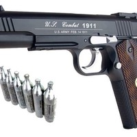 Airsoft Co2 Metal Pistol Gun 500 FPS WG 1911 Special Combat 601 w/ Free 12g CO2
