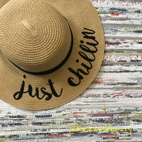 """Just Chillin"" Floppy Beach Hat"