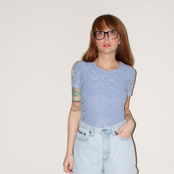 90s Grunge Pastel Lavender Terry Cloth Daisy by NoteworthyGarments