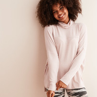 Aerie Plush Turtleneck , Naive Pink