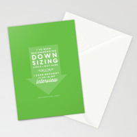 The Office Dwight Schrute Quote Season 1 Episode 1 - Downsizing - Green and White Stationery Cards by Noonday Design