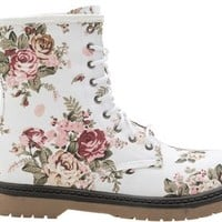 FLORAL COMBAT BOOT | Swell.com