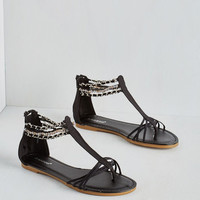 ModCloth Took the Midnight Chain Sandal