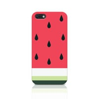 Watermelon iPhone 5 Case, Melon iPhone 5s Case, Watermelon Pattern iPhone Case, Girly case, Tropical fruit case