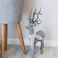 "Standing Reindeer Christmas Decoration - 20"" Tall"