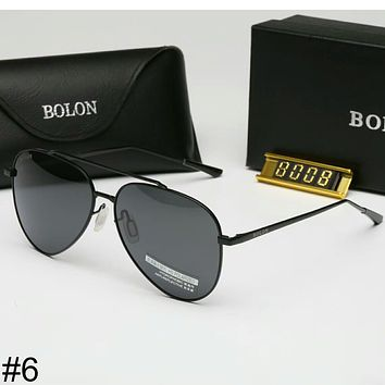 BOLON new colorful film men and women with the same paragraph sunglasses F-A-SDYJ #6