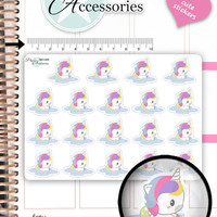 Swimming Stickers Swimmer Stickers Kawaii Unicorn Stickers Planner Stickers Kawaii Stickers Erin Condren NR1565
