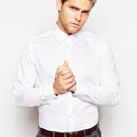 Ted Baker Shirt With Jacquard - White
