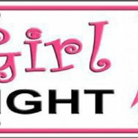 Girl Fight Pink Ribbon Cancer Awareness  License Plate
