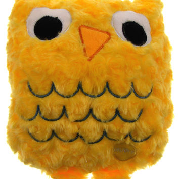"Yellow Owl Pillow Multi Color LED Light Up Flash Plush 10"" Microbeads Bed Decor"