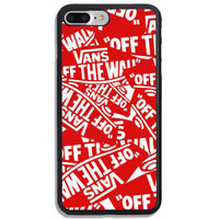 Special!! Vans Red Logo Pattern Hard Plastic Case For iPhone 5 6 7 8 X Plus SE