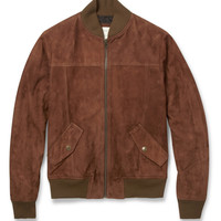 Billy Reid - Suede Bomber Jacket | MR PORTER