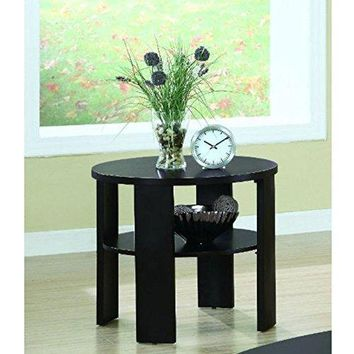 Cherry Contemporary Round End Table