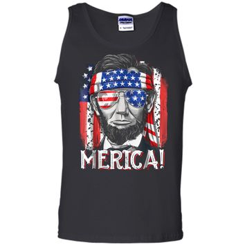 4th of July  for Men Merica Abe Lincoln Boys Kids Gift Tank Top