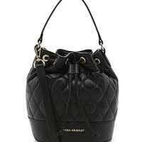 Vera Bradley Emerson Quilted Leather Convertible Cross-Body Bag - Blac