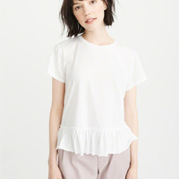 Womens Short-Sleeve Peplum Tee | Womens Tops | Abercrombie.com
