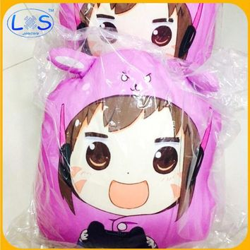 (LONSUN)Over game watch OW kawaii Reaper DVA 40cm Plush Pillow Toys Around Rye Pioneer Figure Logo Children Gifts