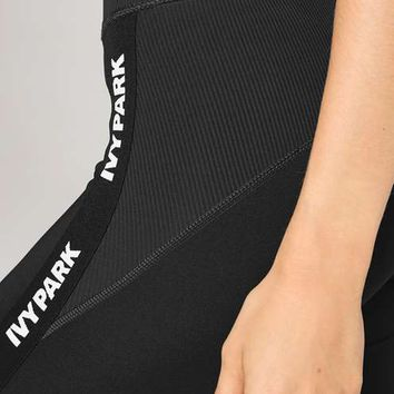 Ribbed Mid Rise Ankle Legging by Ivy Park - Ivy Park - Clothing