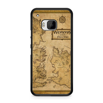 Game Of Throne Map Westeros Htc M9 Case