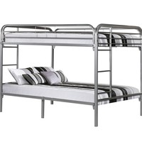 Silver Metal Full / Full Bunk Bed Only