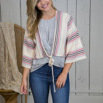 Hey Now Sweater Crop Top, Taupe