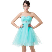 Short Elegant Beaded Prom Dress