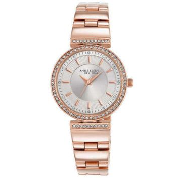 Anne Klein New York 12/2258SVRG Swarovski Crystal Rose Gold Tone Women's Watch