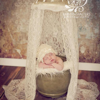 Photography Prop Lace Canopy - Perfect for Newborn Portraits