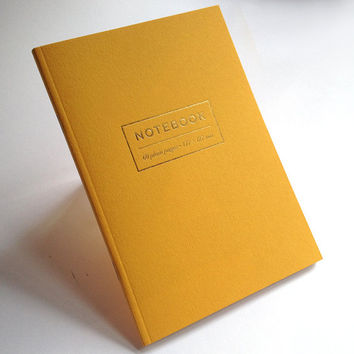 Large Citrine Yellow Notebook 177mm x 127mm, 60 pages.