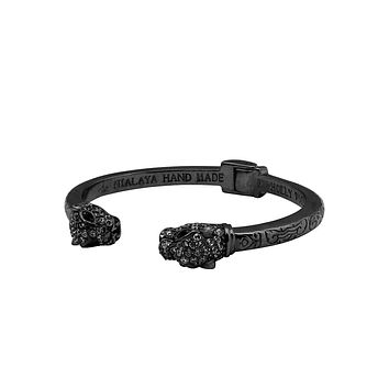 Women's Panther Bangle in Black
