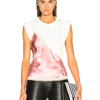 Alexander Wang T Shirt Hybrid Cami Top in Quartz | FWRD