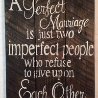 Home Decor- Oak Wood Wall Decor- Marriage Quote