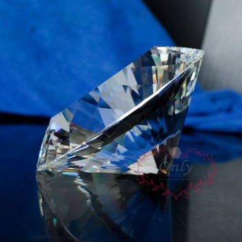 Free Shipping Perfect 80mm Clear Pure Crystal Diamond Gemstone Paperweight Jewelry Wedding Gifts