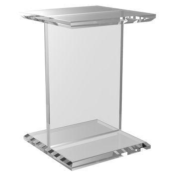"Bea 14"" Square Side Table, Clear, Acrylic / Lucite, Standard Side Tables"