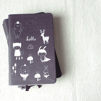 We Are All Here Pocket Notebook Handmade By Mossery